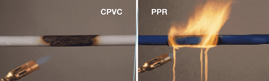 CPVC vs PPR Piping in Fire Performance