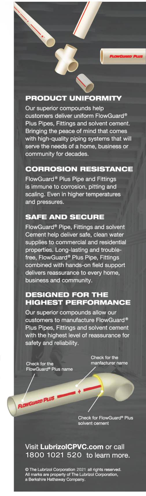 flowguard plus cpvc fittings, pipes and solvent information
